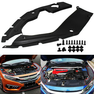A Pair Panel For 2016 2018 10th Gen Honda Civic Engine Bay Side Covers Panels