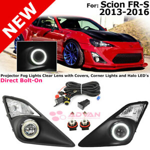 Two Fog Lights For Scion Fr s 13 16 Foglamps Led Halo Ring Corner Signal Lamps
