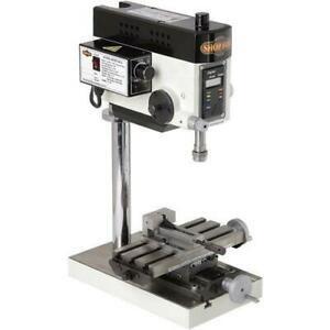 Shop Fox M1036 Micro Milling Machine W Compound Slide Table Variable Speed
