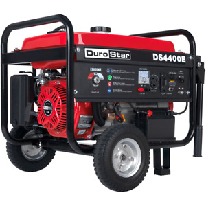 Durostar Ds4400e 4400 watt 212cc Electric Start Ohv Gas Generator W wheel Kit