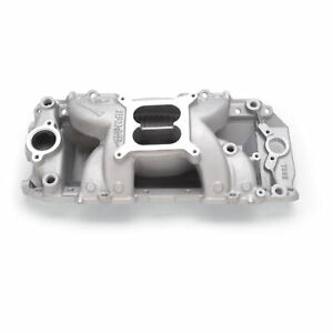 Edelbrock 7562 Intake Manifold Bbc Rpm Air Gap Rectangle Port Satin 4150