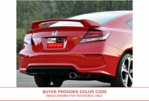 Painted Si Style Rear Spoiler For Honda Civic Coupe Si Large 2012