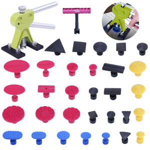 Us Pdr Tools Dent Puller Lifter Paintless Hail Repair Removal Glue Tab T Bar Kit