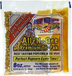 4109 Great Northern Popcorn Premium 8 Ounce Popcorn Portion Packs Case Of 12