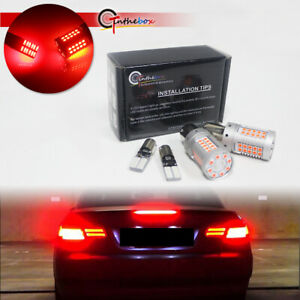 Canbus Red Led Rear Brake turn Signal Light Bulbs For Bmw F32 f33 f82 4 Series