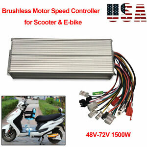 1500w Electric Bicycle E bike Scooter Brushless Dc Motor Speed Controller 48 72v