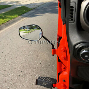 For Jeep Wrangler Pair Mirrors Quick Release Doorless For 2007 2008 2018 Jk Tj