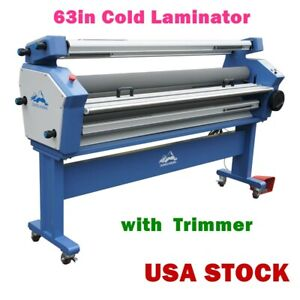 63 Full auto Wide Format Cold Laminator Roll To Roll Heat Assisted