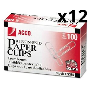 Paper Clips Small no 1 Silver 1 000 pack Pack Of 12