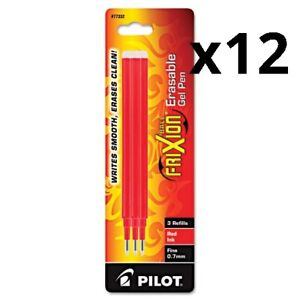 Refill For Frixion Erasable Gel Ink Pen Red 3 pk Pack Of 12