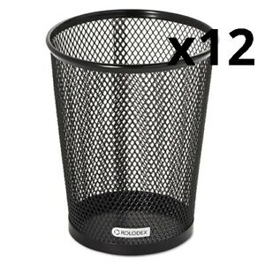 Nestable Jumbo Wire Mesh Pencil Cup 4 3 8 Dia X 5 2 5 Black Pack Of 12