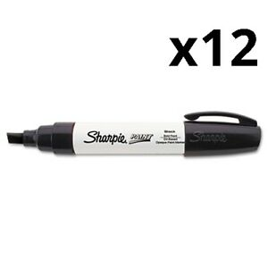 Permanent Paint Marker Extra broad Chisel Tip Black Pack Of 12