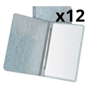 Pressboard Report Cover 2 Prong Fastener Letter 3 Capacity Gray Pack Of 12