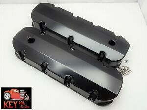 Big Block Chevy Black Fabricated Tall Valve Covers Bbc Sheet Metal 454 396 427