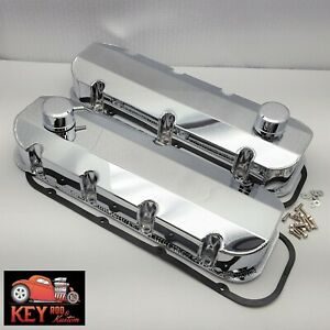 Big Block Chevy Chrome Fabricated Valve Covers Bbc Sheet Metal 454 396 Breathers