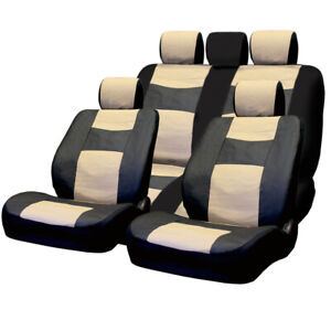 For Jeep Pu Leather Car Truck Suv Seat Covers Set Premium Grade New
