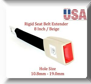 Beige Universal Seat Belt Extender 8 Rigid Extension Model Ext R With Buckle