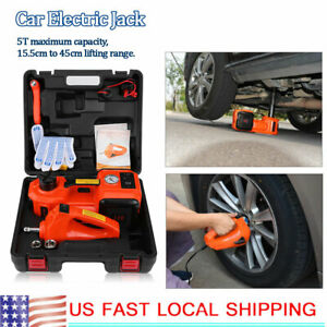 Car Automotive Electric Car Floor Jack Lift 5 Ton 12v For Emergency Repairing