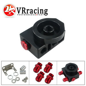 Remote Engine Transmission Oil Filter Thermostat Sandwich Adaptor 4 An10