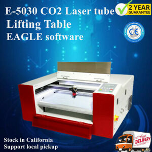 110v E 5030 Co2 Laser Cutting And Engraving Machine Lifting Table Eagle Software