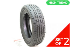 Set Of 2 Used 215 65r17 Goodyear Assurance All season 99t 8 5 32