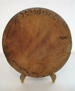 Antique Carved Wood Bread Board Raised Letters Original Surface Beautiful