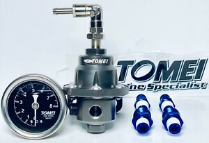 Tomei Adjustable Fuel Pressure Regulator With Gauge Type S 185001 6an Fittings