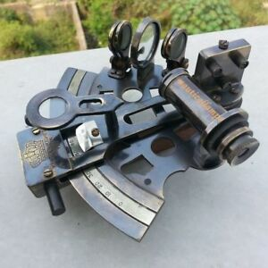 Sextant Collectible Solid Brass Antique Marine Nautical Brass Working German