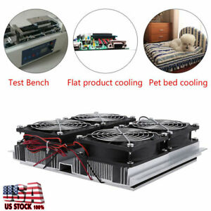 12v Peltier Cold Plate Semiconductor Refrigeration Thermoelectric Cooler W fan