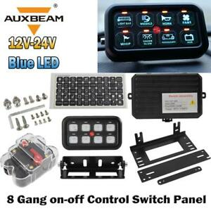 8 Gang Switch Panel Relay On off Control Led Light Bar Car Boat Marine Off Road