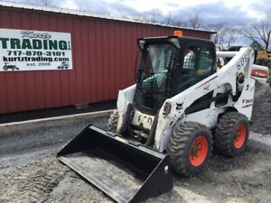 2013 Bobcat S750 Skid Steer Loader W Cab 2 Speed New Tires