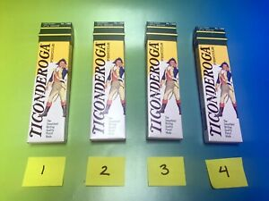 Vintage Lot 4 Boxes Of Dixon Ticonderoga 2 5 Medium 1388 Pencils 48 Pencils