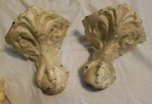 Lot Of 4 Cast Iron Claw Feet Foot Tub Antique Vintage Patina Victorian Rustic