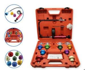 14pcs Radiator Pressure Tester Kit Cooling System Test Detector Tools With Case