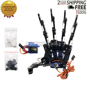 Mechanical Claw Clamper Gripper Arm Left Hand Five Fingers With Servos For Robot