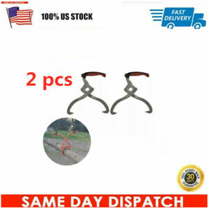 High Quality Sharp Hooks Log Tongs With Tpr Handle Stacking Wood 2 Pcs
