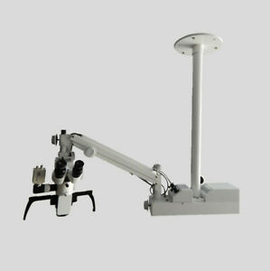 Ceiling Mount Dental Operating Microscope 3 Step Hd Camera And Led Tv Full Set