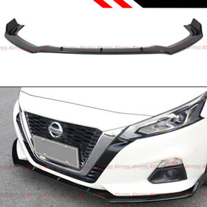 For 2019 2020 Nissan Altima Jdm Glossy Black Front Bumper Lip Spoiler Splitter