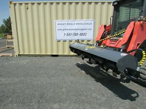 80 Rotary Tiller Commercial Skid Steer Attachment 4 Bobcat Case Cat John Deer