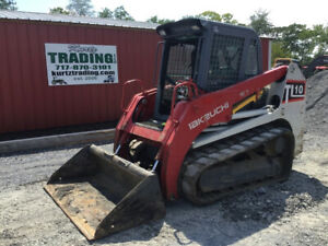 2015 Takeuchi Tl10 Compact Track Skid Steer Loader Cab 2spd High Flow 1600hrs