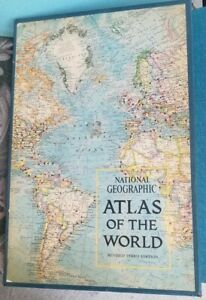 National Geographic Atlas Of The World Revised Third Edition 1970 Maps Rare