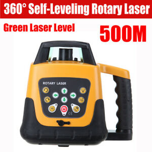 500m Automatic Electronic Self leveling Rotary Rotating Green Laser Level Kit