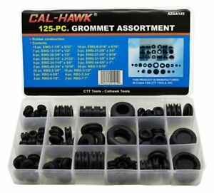 Rubber Grommet Firewall Hole Plug Assortment Set With Storage Box 125 Pieces New