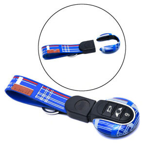 Blue Speedwell Style Remote Key Fob Case Cover Cap Shell For 14 15 Mini Cooper