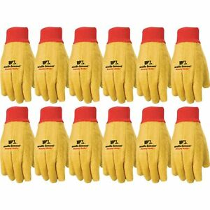 Wells Lamont Polyester And Cotton Chore Gloves Standard Weight Large 12 pa
