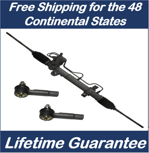 Power Steering Rack Pinion 2 New Outer Tie Rod Ends For Mustang Convertible