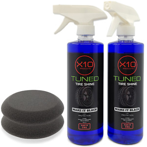 Tire Shine Spray For Car Wheel Shines And Protect Fast No Grease Or Oil 16oz