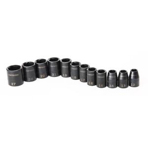Craftsman Laser Impact Socket Accessory 12 Pieces 1 2 Inch Drive Metric 6 Points
