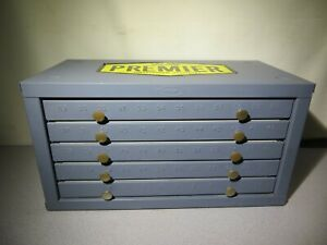 Huot Metal Parts Cabinet 5 Drawer For Numbered Drill Bits Supertanium