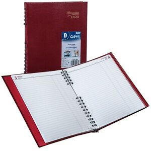 2020 Brownline C550c red Coilpro Daily Planner Hard Cover 10 X 7 7 8